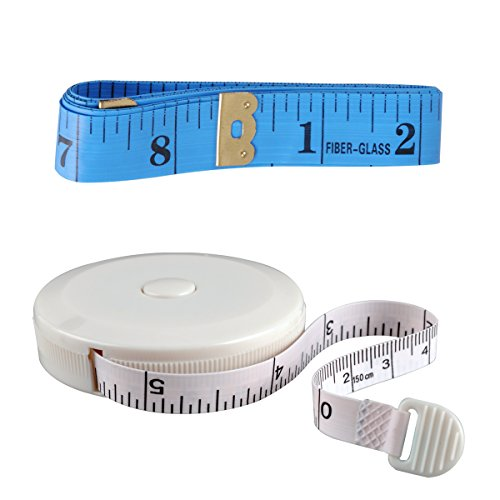 ezakka-60-inch-15-meter-soft-tape-measure-and-retractable-tape-measure-set-blue