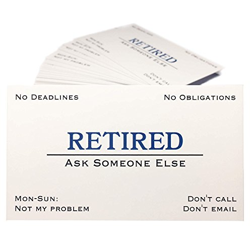 Out of Business Cards - Funny Retirement Gift For Men, Women, Coworkers, Employees, Boss, Friend, Colleague