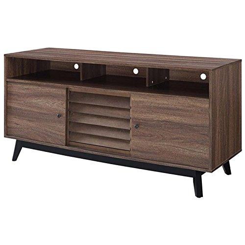 Ameriwood Home Vaughn TV Stand in Brown Walnut