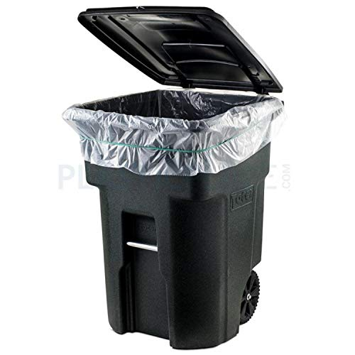 "- Plasticplace 95-96 Gallon Garbage Can Liners │1.5 Mil │ Clear Heavy Duty Trash Bags │ 61"" x 68"" (25 Count)"