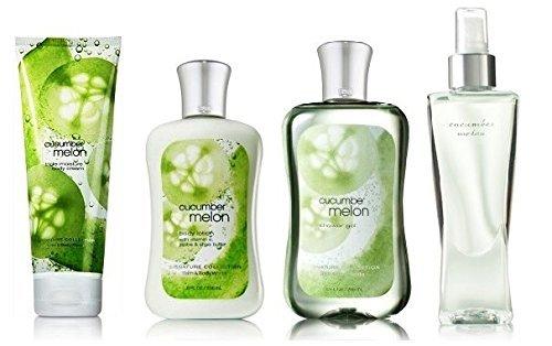 Cucumber Melon Deluxe Gift Set - Bath & Body Works - Body Lotion - Body Cream - Fragrance Mist & Shower Gel Full ()