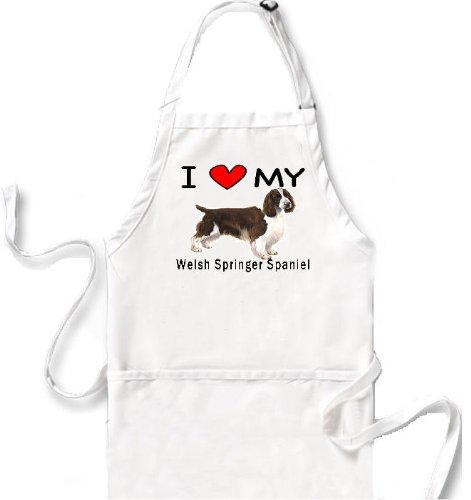 I Love My Welsh Springer Spaniel Apron