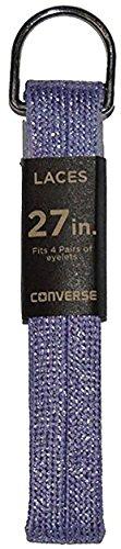 Converse Unisex Replacement Cord Shoe Laces Flat Style Shoelaces (Shiny Purple, 27) ()