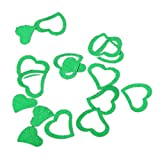 VWH Green Heart-shaped Wedding Confetti Spilled DIY Celebrations Party Supplies