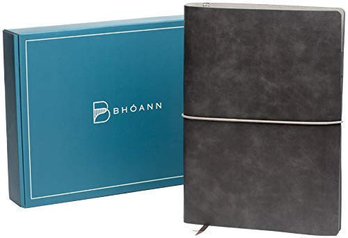 Bhóann Budget Planner Organizer - Customizable Undated Monthly Calendar Financial Planner to Track Expenses, Budget, Debt, Bills, Income, Savings, Goals - Pockets for Receipts, Pens, Etc
