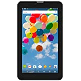 Tablet 7 inch Android 6.0 Dual Sim Card Slots Unlocked,Hoozo GSM WiFi Blutooth GPS Portable Phablet IPS 1024x600 1GB+8GB Quad-core 2G/3G Phone Pad, Black