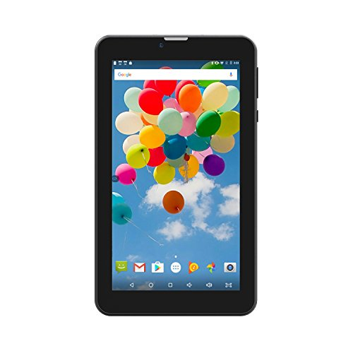 Tablet 7 inch Android 6.0 Dual Sim Card Slots Unlocked,Hoozo GSM WiFi Blutooth GPS Portable Phablet Quad-core 2G/3G Phone Pad, Black by Hoozo