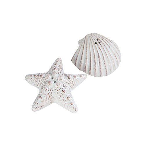 - American Atelier Seashore Salt & Pepper Shakers, White
