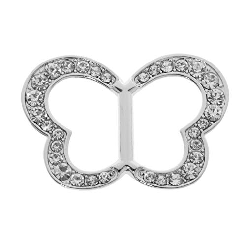 Stylished Scarf Ring Silk Scarf Clip Buckle Fashion Elegant Lady Girls Jewelry | Item - Crystal Butterfly Silver -