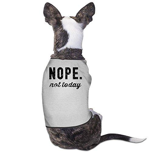 YRROWN Nope Not Today Dog Shirt (Spirit Halloween Utah)