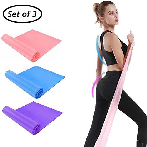 DB Resistance Bands(Set of 3),Elastic Band for Exercise,Yoga Fitness Bands,Workout Bands for Stretch,Physical Therapy, Pilates by DB