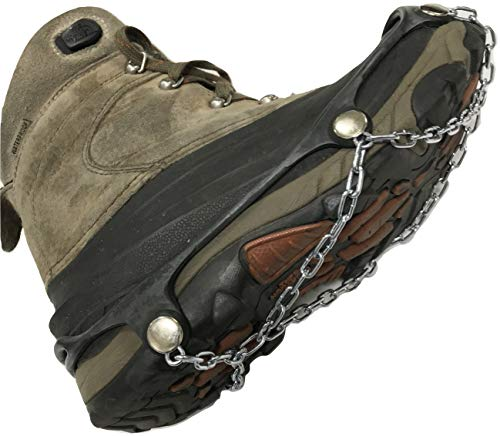 TireChain.com Large Shoe Chains Traction Cleats Ice Snow Grips for Walking, Jogging, Climbing and Hiking