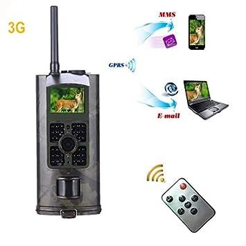 No Foto Trpas 3G Cámara de Caza MMS 3G HD 16MP CAM Trail GPRS SMTP SMS 1080P Visión Nocturna 940nm Detección de cámaras Trampa: Amazon.es: Deportes y aire ...