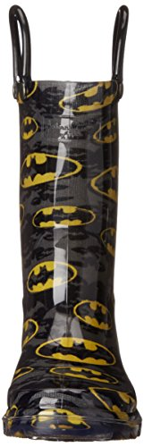 Western Chief Kids Waterproof D.C. Comics Character Rain Boots with Easy on Handles, Light-up Batman, 12 M US Little Kid by Western Chief (Image #4)