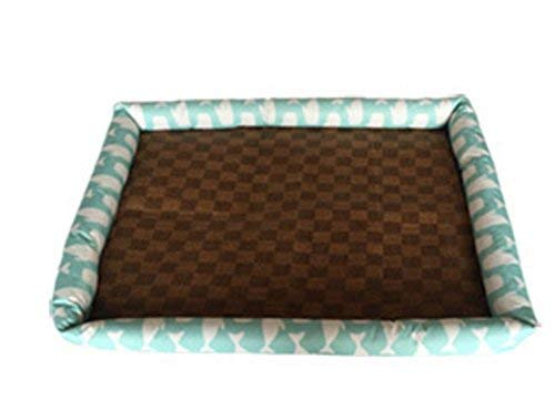JINGB Pet Supplies Summer Puppy Dog Pet Cooler Cold Bed Pet Cooling Mat(Sky-bluee,M) Pet Bed Blanket