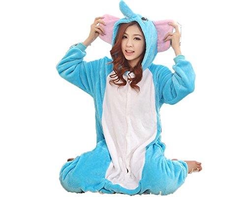 Zerlar Pajamas Animal Costume Onesie Adults Sleepwear Kigurumi Cosplay Elephant (Elephant Onesies For Adults)