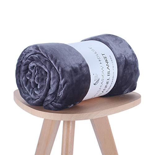 (QWE Small Blanket Quilt Coral Velvet Summer Single Thin air Conditioning Blanket Thickening Children Baby Sofa nap Blanket Powder White Orange Powder 80cmX120cm, Peacock Blue Flannel_100cmX150cm)
