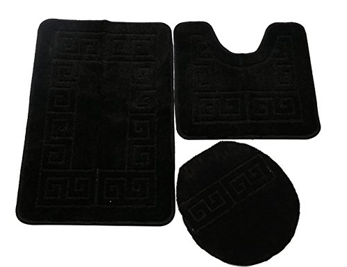 Pauwer 3 Piece Bath Rug Set Pattern Bathroom Rug 28.4