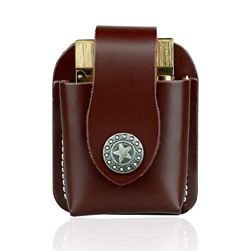 (FIREDOG Lighter Holder, with Belt Loop Pouch for Zippo Zorro Dupont Genuine Leather Cigarette Lighter Case Bag)
