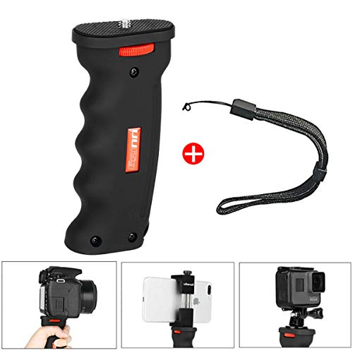 UURig R003 Ergonomic Action Camera Pistol Grip Phone Handle Grip Selfie Stick Compatible for iPhone Xs X 8 Plus Samsung Galaxy S8/S9 GoPro Hero 7/6/5 and DSLR Cameras