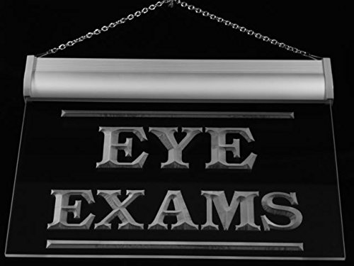Eye Exams Led Sign (Multi Color i415-c Eyes Exams Optical Shop Neon LED Sign with Remote Control, 20 Colors, 19 Dynamic Modes, Speed & Brightness Adjustable, Demo Mode, Auto Save Function)