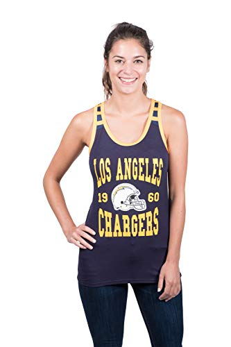 Ultra Game Women's Standard NFL Tampa Bay Buccaneers Jersey Tank Top Sleeveless Mesh Tee Shirt, Navy, Medium