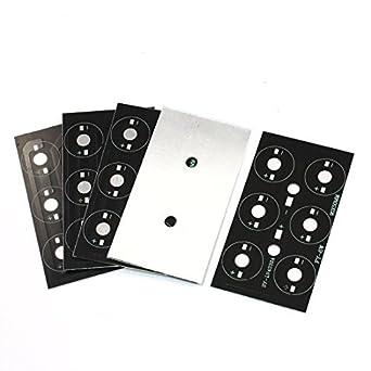 eDealMax a14050700ux0126 5 pieza Base de aluminio placa PCB de bricolaje 9 cm x 5 cm por 6 x 1W / 3W LED de alta potencia: Amazon.com: Industrial & ...