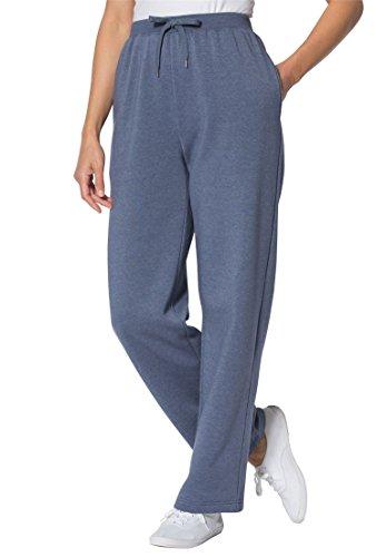 Women's Plus Size Tall Sweat Pants In Easy Fleece Heather...