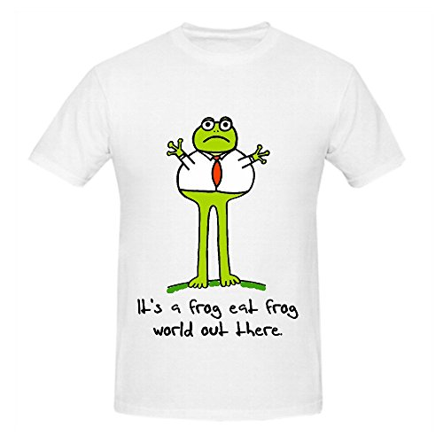 Its A Frog Eat World Out There Men O Neck Big Tall Tee Shirts White