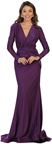 74550306f1 May Queen MQ1530 Long Sleeve Simple Evening Prom Dress (10