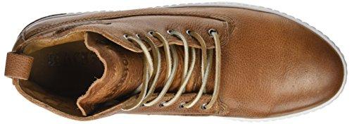 Blackstone Am02.Cuoi, Sneaker a Collo Alto Uomo Marron (Cuoio)