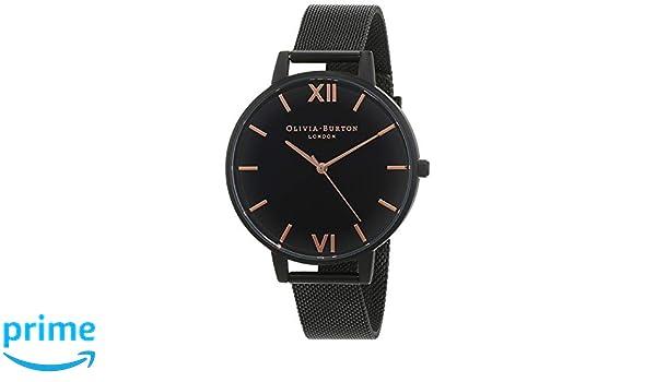 Olivia Burton Reloj Analógico para Mujer de Cuarzo con Correa en Acero Inoxidable OB15BD83: Amazon.es: Relojes