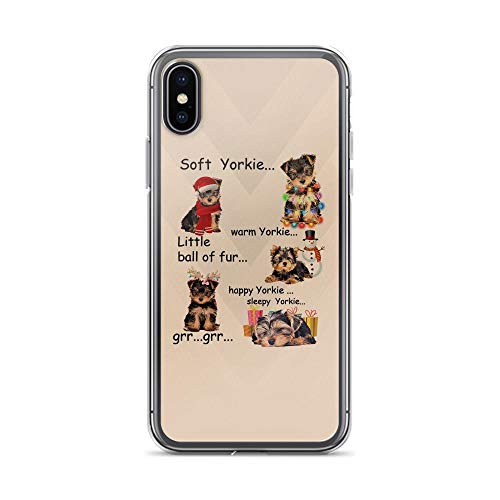 - iPhone X/XS Pure Clear Case Cases Cover Cute Yorkie Dogs