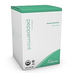 Total Tea Pure Organic Peppermint Tea | 20 Herbal Tea Bags
