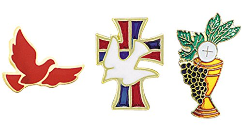 Sacramental Lapel Pin Package - Chalice, Dove & Cross