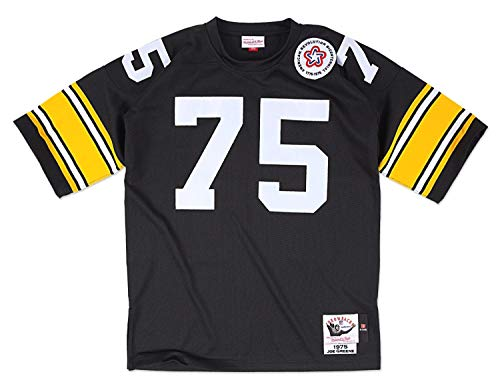 Mitchell & Ness Pittsburgh Steelers 1975 Joe Greene Authentic Throwback Team Color Jersey Size 52