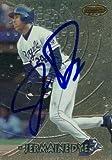 jermaine dye - Autograph Warehouse 98184 Jermaine Dye Autographed Baseball Card Kansas City Royals 1997 Bowmans Best No. 89