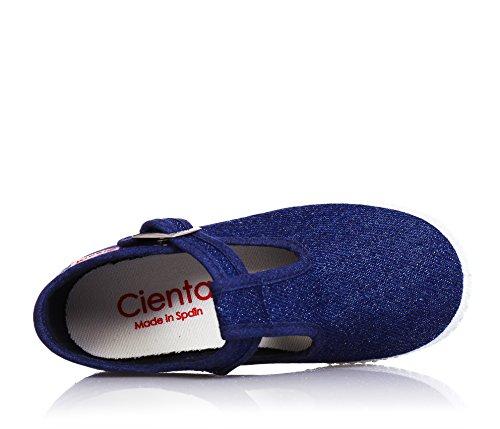 Cienta botón de 51000 zapatos de color azul beb bebé Blu