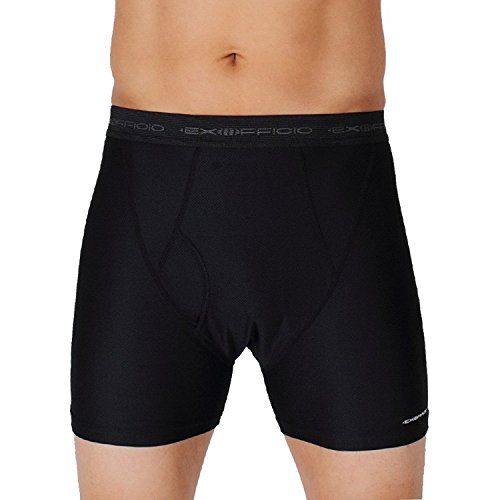 ExOfficio Men's Give-N-Go Boxer Brief (2 Pack Medium, Black)