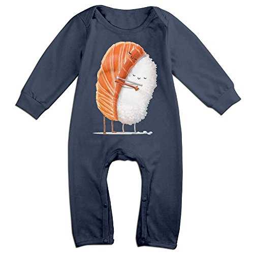 NOXIDN SMWI Baby Infant Romper Sushi Hug Long Sleeve Bodysuit Outfits Clothes Navy]()
