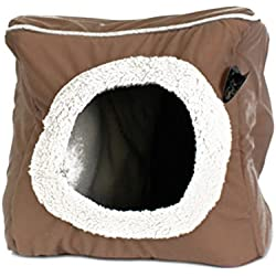 NEW Pet Dog Cat Bed House Portable Puppy Cube Cave Nest Igloo Pad Cozy Cushion