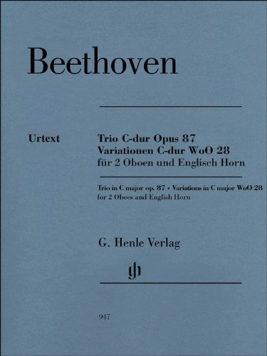 (Trio In C Major Op. 87 Variations In C Major Woo28 For 2 Oboes And English Horn)