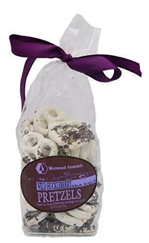 Westwood Gourmet Chocolate Covered Pretzels, 6.2 Ounce Bag (Wild Huckleberry & Sea Salt)