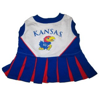 Pets First Kansas University Dog Cheerleader Outfit, Medium