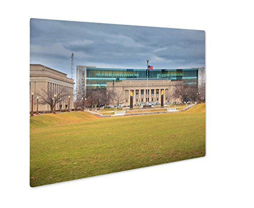 Ashley Giclee Metal Panel Print, Indiana Public Library In American Legion Mall Indianapolis, Wall Art Decor, Floating Frame, Ready to Hang 8x10, - Indianapolis Malls Indiana