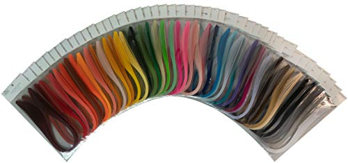 Solid Colors Quilling Paper Pack Bundle (1/8'') by Quilled Creations (Image #1)