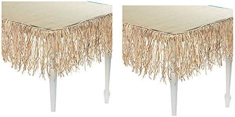 24 pies largo Tiki Bar rafia flecos falda - paja (1-Pack): Amazon ...
