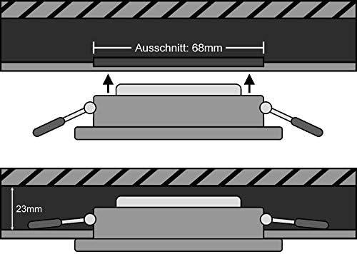 10er PACK - Slim LED Keramik Modul 230V -5W 400lm - Einbautiefe 23mm - Ersatz für MR16 GU10 - für geringe Deckenhöhen - tagesweiß (4000 K)