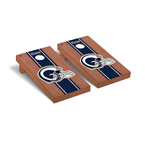 Pittsburgh Steelers NFL Football Regulation Cornhole Game Set Rosewood Stained Stripe Version -  Victory Tailgate, 656589