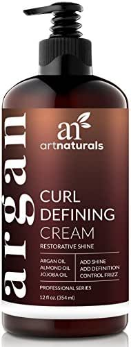 ArtNaturals Curl Defining Cream - (12 Fl Oz / 355ml) - Curls Amplifier with Argan Oil - for Wavy and Curly Hair - Natural and Sulfate Free